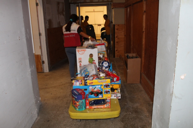 Bringing toys into the shelter